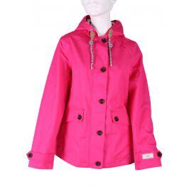 Ružová dámska bunda s kapucňou