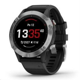 Garmin fénix 6 Glass, Silver/Black Band 010-02158-00